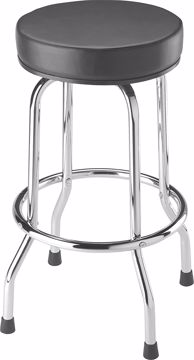 Picture of Chair - Bar Stool Chrome W/Blk Seat
