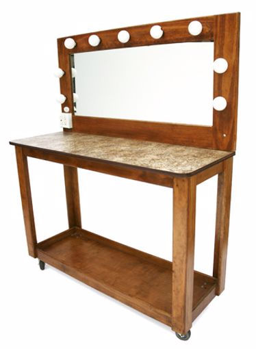 Picture of Makeup Table - Varnish Wood Double Wide