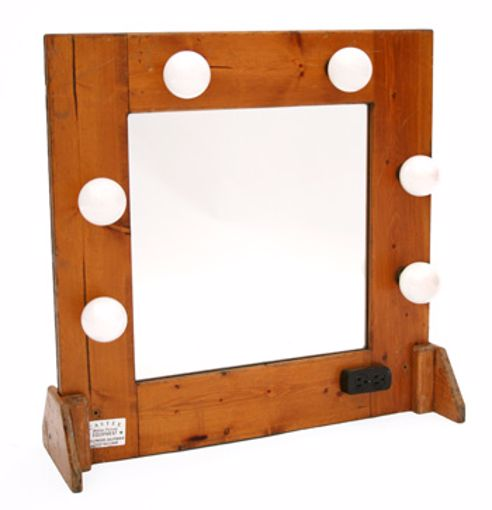 Picture of Makeup Mirror - Tabletop Wood
