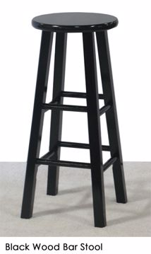 Picture of Chair - Bar Stool Black Wood