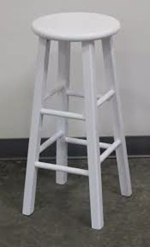 Picture of Chair - Bar Stool White Wood