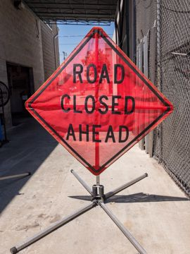 Picture of Road Sign - Road Closed Ahead