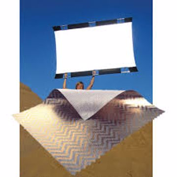 Picture of California SunBounce - 4' X 6' Fabric Only (Silver/Gold Zigzag)