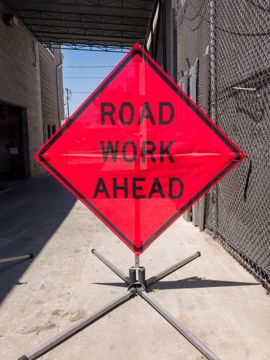 Picture of Road Sign - Road Work Ahead
