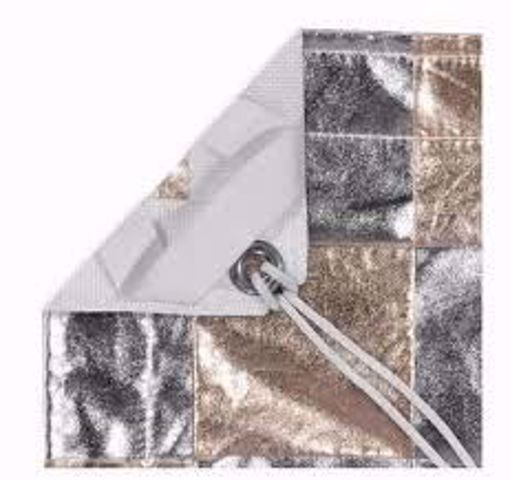 Picture of Lamay - 4' x 4' - Gold / Silver Checkered  (rag Only)