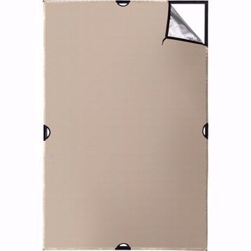 Picture of Scrim Jim 4' X 6' - Silver/Gold 2 Tone Fabric