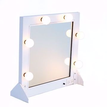 Picture of Makeup Mirror - White Metal
