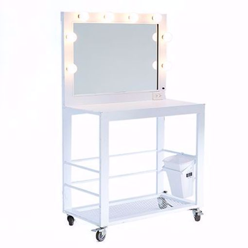 Picture of Makeup Table - White Deluxe Metal