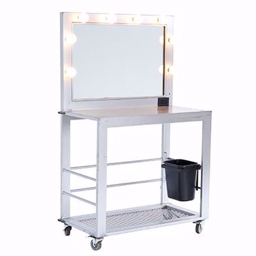 Picture of Makeup Table - Silver Deluxe Metal
