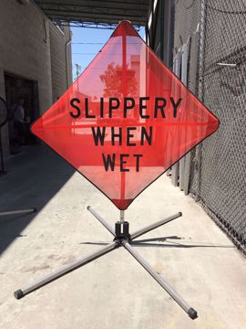 Picture of Road Sign - Slippery When Wet
