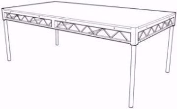 """Picture of Stage Riser - 4' X 8' with 1"""" Clear Mounted Plexi Top"""